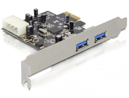 Delock PCI Expr Card 2x USB3.0 ext +LowProfile