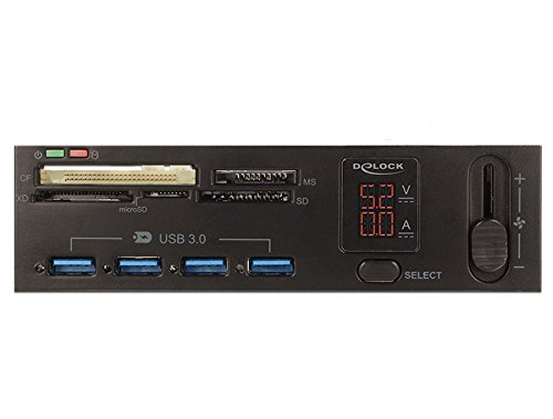 Delock USB 3.0 Card Reader 5 Slot + 4 Port USB 3.0 Hub Kartenleser schwarz