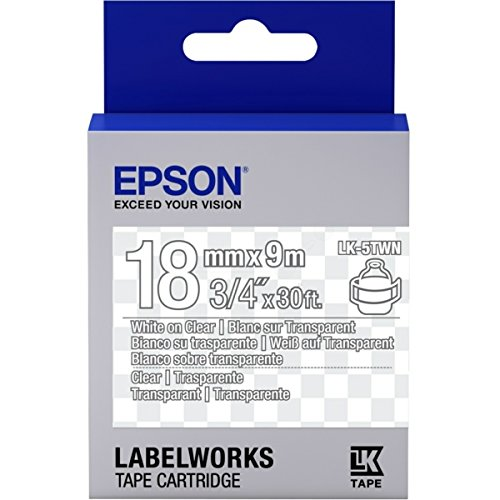 Epson LabelWorks LK-5TWN - Etikettenband - White on Transparent