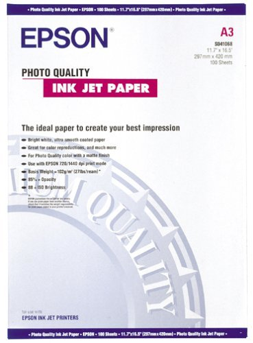 Epson Photo Quality Inkjet Paper A 3 105 g, 100 Blatt S 041068