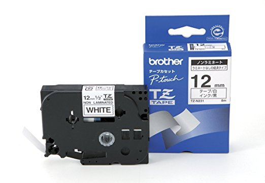 Brother Tape TZEN231/s/w/8m/12mm/no lamin/PT1000