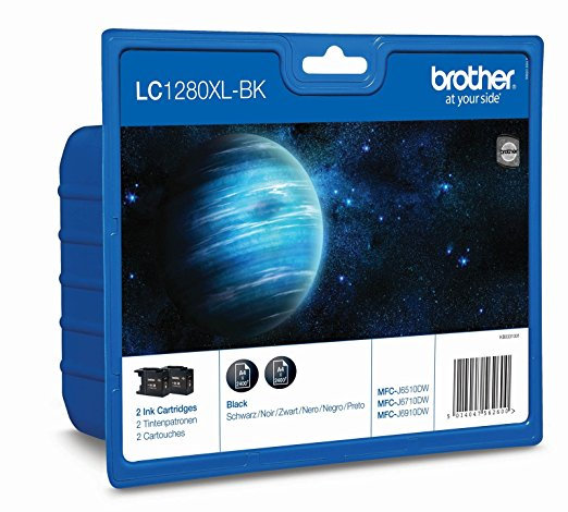 Brother LC-1280XLBKBP2DR sw-Twin Pack