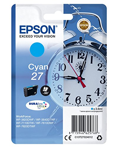 Epson 27 cyan Dura Brite Ultra Ink 3,6ml