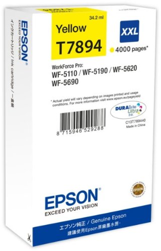 Epson WF5110DW yellow T7894 XXL 34,2ml