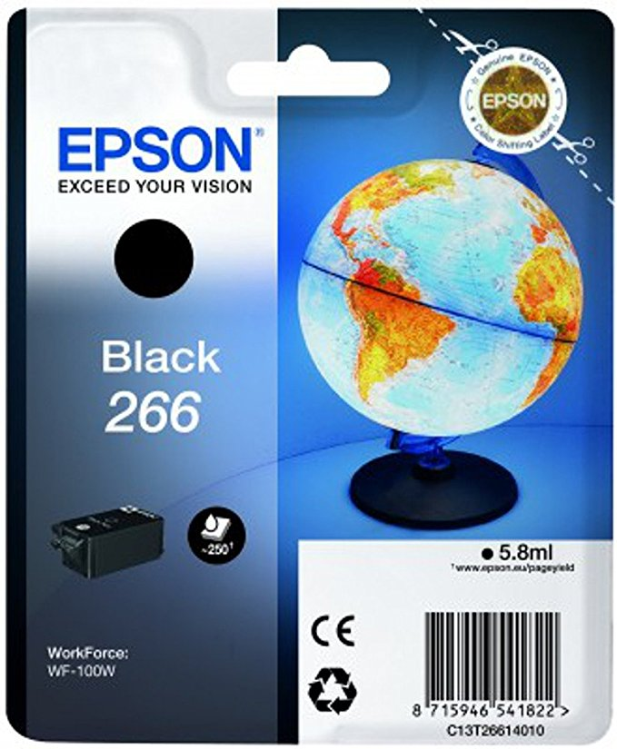 Epson 266 für WorkForce WF-100 W 6 ml black