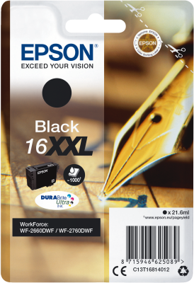 Epson 16XXL XL für WorkForce WF-2660DWF bk