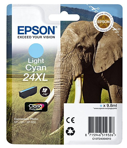 Epson Tintenpatrone XL light cyan Claria Photo HD T 2435