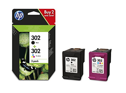 Hewlett Packard X4D37AE Combo 2-Pack BK/Color No. 302