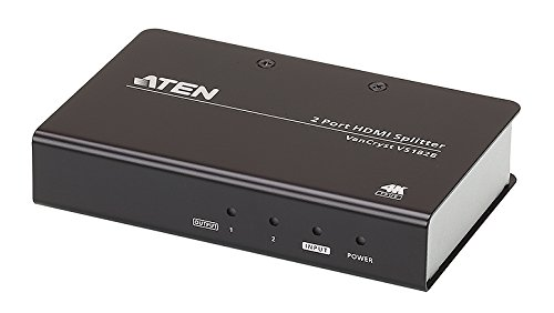 ATEN VS182B Video-Splitter HDMI 2-fach Verteiler True 4K bei 60 Hz